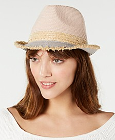 Colorblocked Short-Brim Fedora