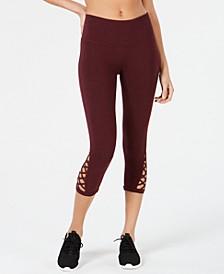 Lattice Cutout Cropped Leggings, Created for Macy's