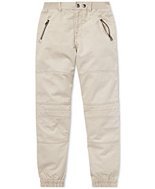 Polo Ralph Lauren Big Boys Twill Moto Jogger Pants