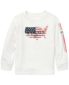 Polo Ralph Lauren Little Boys Graphic Long-Sleeve Cotton T-Shirt