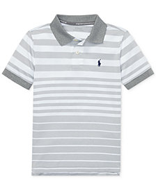 Polo Ralph Lauren Toddler Boys Striped Performance Lisle Polo