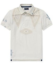 Polo Ralph Lauren Big Boys Mesh Graphic Cotton Rugby Shirt