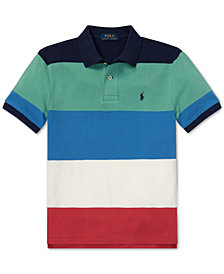 Polo Ralph Lauren Big Boys Striped Cotton Mesh Polo