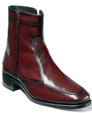 FLORSHEIM Men'S Essex Moc Toe Ankle Boot Men'S Shoes in Black Cherry