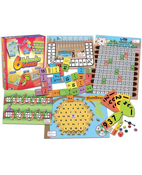 Junior Learning Mathematics Games Set of 6 Different Math Games