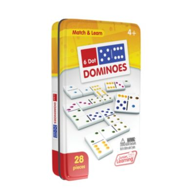 Junior Learning Six Dot Dominoes Match and Learn Educational Learning Game