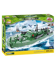 Small Army World War II Motor Torpedo Boat PT 109 480 Piece Construction Blocks Building Kit
