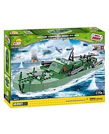 Small Army World War II Motor Torpedo Boat PT 109 480 Piece Construction Blocks Building Kit