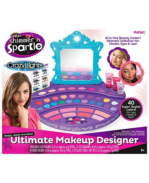 Cra-Z-Art Cra Z Art Shimmer N Sparkle Crazy Lights Ultimate Make Up Designer Kit