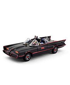 NJ Croce DC Comics 1966 Batmobile Car With Batman and Robin Mini Bendable Figures