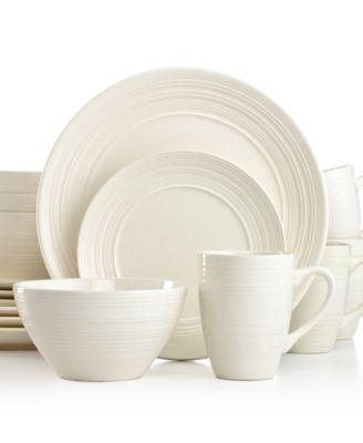Thomson Pottery Ripple Whi.  sc 1 st  Macy\u0027s & Thomson Pottery Quadro 32-Piece Set Service for 8 - Dinnerware ...