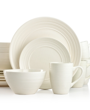Thomson Pottery Ripple White 16-Pc. Set, Service for 4