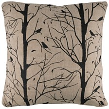 "Rizzy Home 18"" x 18"" Sticks, Twigs and Bird Down Filled Pillow"
