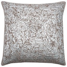"""Rizzy Home 18"""" x 18"""" Squares Down Filled Pillow"""