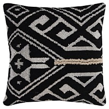 """Rizzy Home 20"""" x 20"""" Tribal Medallion Down Filled Pillow"""