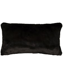 "Rizzy Home 14"" x 26"" Faux Fur Down Filled Pillow"