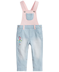 First Impressions Baby Girls Colorblocked Overall, Created for Macy's
