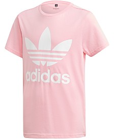 adidas Originals Big Girls Logo-Print Cotton T-Shirt