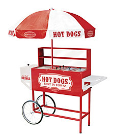 Nostalgia 48-Inch Hot Dog Vending Cart With Umbrella