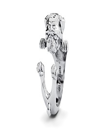 Pug Hug Ring in Sterling Silver