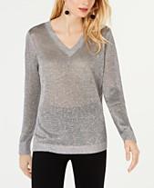 ad4afce9c3 I.N.C. Metallic V-Neck Pullover Sweater