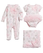 11d87bf8be First Impressions Baby Girls Floral-Print Bodysuit Footed Coverall    Blanket