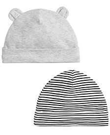 First Impressions Baby Boys & Girls 2-Pk. Hats, Created for Macy's