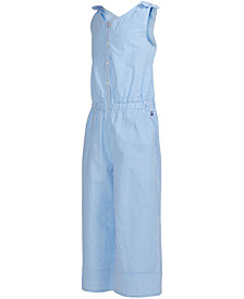 Tommy Hilfiger Big Girls Seersucker Wide-Leg Cotton Jumpsuit