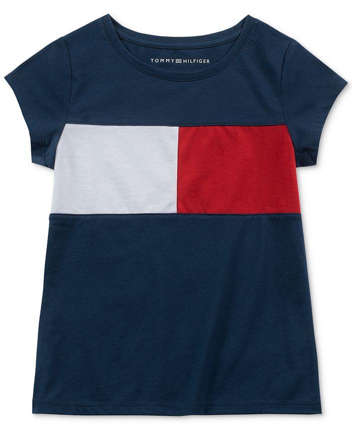 Tommy Hilfiger - Little Girls Pieced Logo T-Shirt