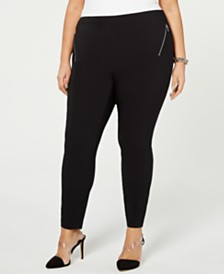 I.N.C. Plus & Petite Plus Size Skinny Ponté-Knit Pants, Created for Macy's