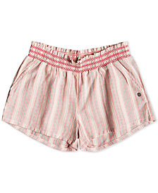 Roxy Big Girls Striped Cotton Shorts