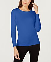 Alfani Long-Sleeve Ruched Top, Created for Macy's