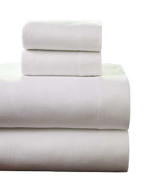 Pointehaven Superior Weight Cotton Flannel Sheet Set Full