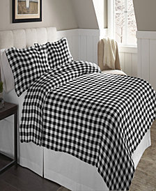 Pointehaven Superior Weight Cotton Flannel Duvet Set