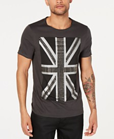 GUESS Men's Studded Flag T-Shirt