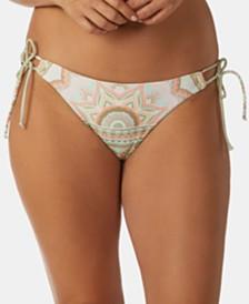 Raisins Villa Kini Printed Sweet Pea Side-Tie Bikini Bottoms