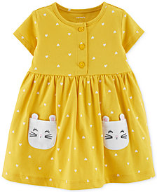 Carter's Baby Girls Kitty-Pocket Cotton Dress