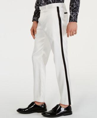 INC Men's Slim-Fit Tuxedo Pants, Created for Macy's