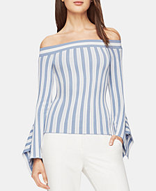 BCBGMAXAZRIA Off-The-Shoulder Pointelle Top