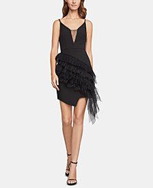 BCBGMAXAZRIA Ruffled Mini Sheath Dress