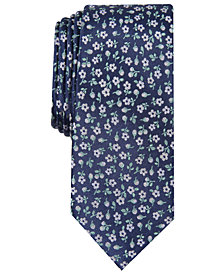 Bar III Men's Colson Floral Skinny Tie, Created for Macy's