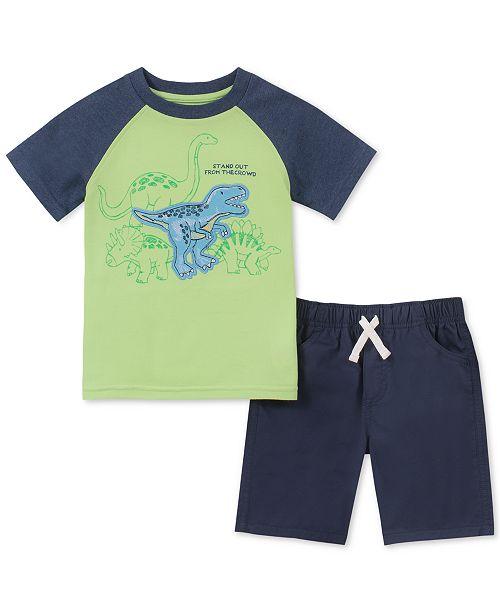 Kids Headquarters Toddler Boys 2-Pc. Dino Graphic T-Shirt & Shorts Set
