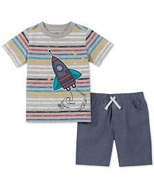 Kids Headquarters Toddler Boys 2-Pc. Rocket Ship Graphic T-Shirt & Shorts Set