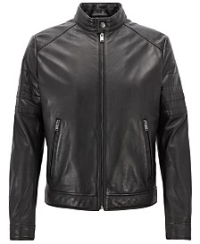BOSS Men's Regular/Classic-Fit Leather Jacket