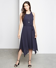 Karen Kane Handkerchief-Hem Dress