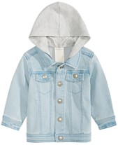 bfeba1dbf First Impressions Baby Boys Layered-Look Hooded Denim Jacket, Created for  Macy's