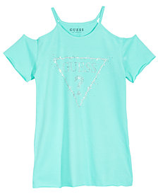 GUESS Big Girls Cold Shoulder Logo T-Shirt
