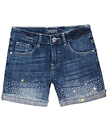 GUESS Big Girls Sparkle Denim Shorts