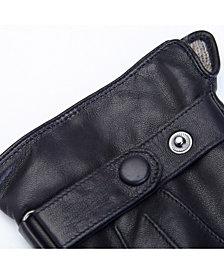 Royce New York Men's Touchscreen Cashmere Gloves
