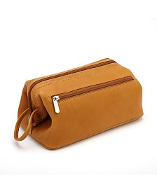 Royce New York Colombian Leather Toiletry Bag